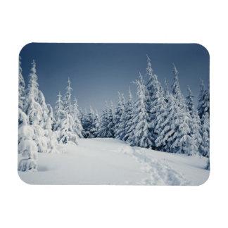 Winter Landscape Rectangular Photo Magnet