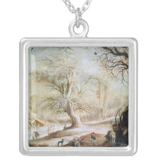 Winter Landscape Silver Plated Necklace