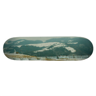 Winter landscape skateboard deck