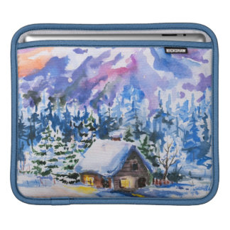 Winter landscape sleeve for iPads