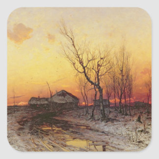 Winter Landscape Square Sticker