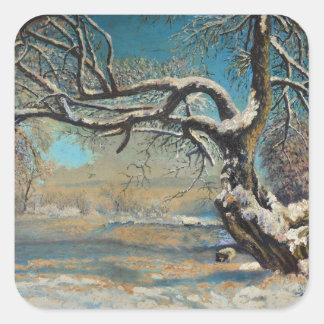 Winter Landscape Square Sticker