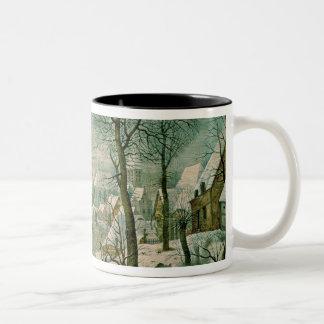 Winter Landscape Two-Tone Coffee Mug