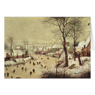 Winter Landscape with a Bird Trap - 1565 Stationery Note Card