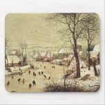 Winter Landscape with a Bird Trap - 1565 Mousepad