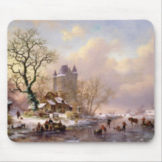 Winter Landscape with a Castle Mouse Pad