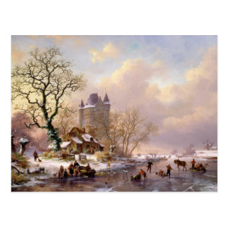 Winter Landscape with a Castle Postcard