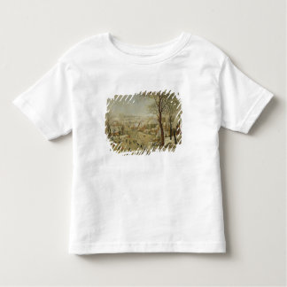 Winter Landscape with Bird Trap (oil on panel) Toddler T-shirt