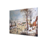 Winter Landscape with Birdtrap, 1601 Canvas Print