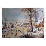 Winter Landscape with Birdtrap, 1601 Greeting Card