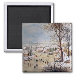 Winter Landscape with Birdtrap, 1601 Magnet