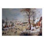 Winter Landscape with Birdtrap, 1601 Poster