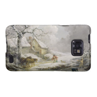 Winter Landscape with Men Snowballing an Old Woman Galaxy SII Cover