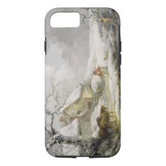 Winter Landscape with Men Snowballing an Old Woman iPhone 7 Case