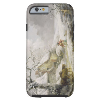 Winter Landscape with Men Snowballing an Old Woman iPhone 6 Case