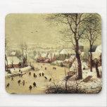 Winter landscape with skaters by Pieter Bruegel Mousepads