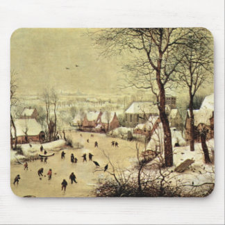 Winter landscape with skaters by Pieter Bruegel Mousepads