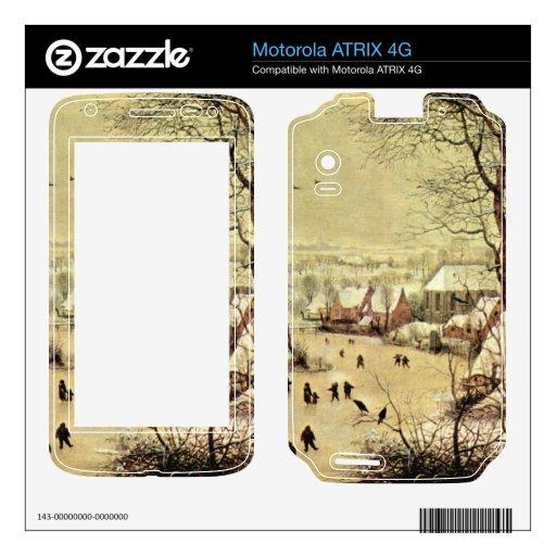 Winter landscape with skaters by Pieter Bruegel Motorola ATRIX 4G Skins