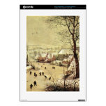 Winter landscape with skaters by Pieter Bruegel PS3 Console Decal