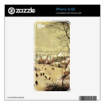 Winter landscape with skaters by Pieter Bruegel Skins For iPhone 4S