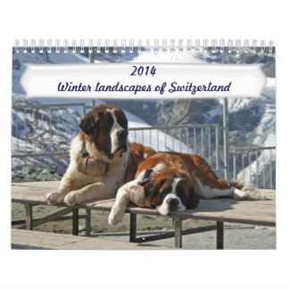 Winter landscapes of Switzerland Wall Calendars