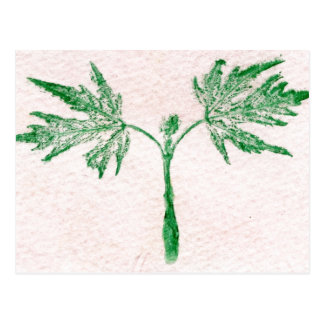 """Winter Leaf #3"" Country Roads Postcard"