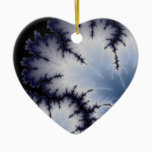 Winter Leaf Ceramic Ornament
