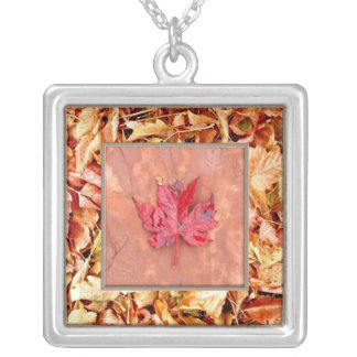 Winter Leaf in Leaves Necklace