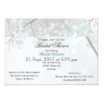 Winter Leaves Bridal shower Invitations