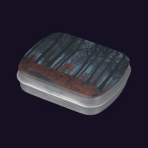 Winter Leaves Candy Tin