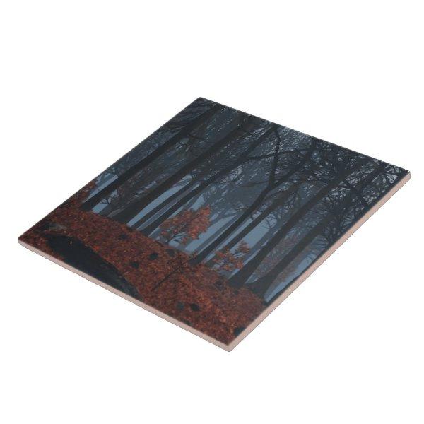 Winter Leaves Decorative Tile / Trivet