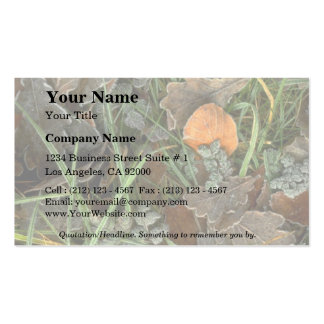 Winter leaves Double-Sided standard business cards (Pack of 100)