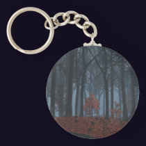 Winter Leaves Keychain