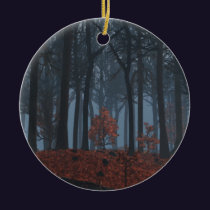 Winter Leaves Ornament