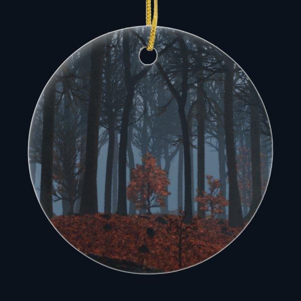 Winter Leaves Ornament