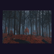 Winter Leaves Print