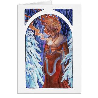 Winter Light Art Nouveau Goddess Card