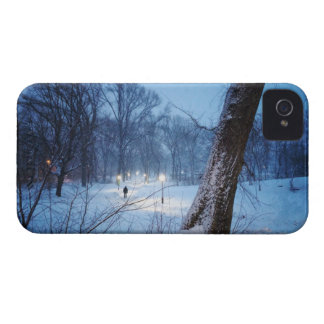 Winter Lights On A Winding Path iPhone 4 Cover