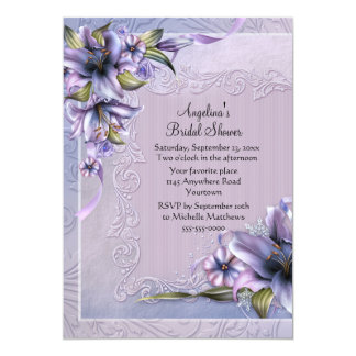 Winter Lillies Bridal Shower Card