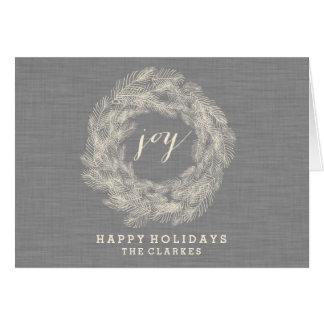 WINTER LINEN | JOY | STYLISH HOLIDAY CARD