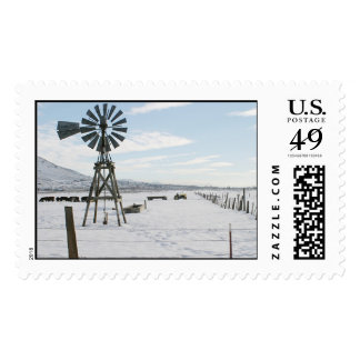 Winter, Lompa Ranch, Carson City, Nevada Postage Stamp