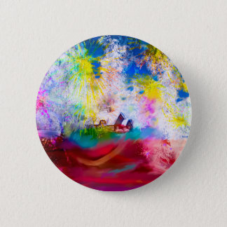 Winter looks different during Holiday. Pinback Button