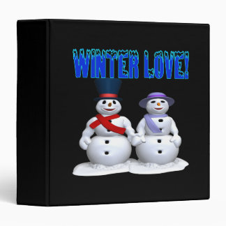 Winter Love 3 Ring Binder