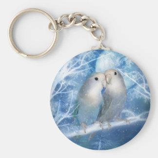 Winter Love Art Keychain