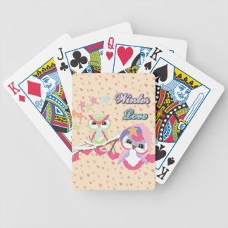 Winter Love Bicycle Poker Deck