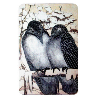 WINTER LOVE BIRDS MAGNET