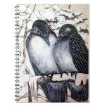 WINTER LOVE BIRDS SPIRAL NOTE BOOKS