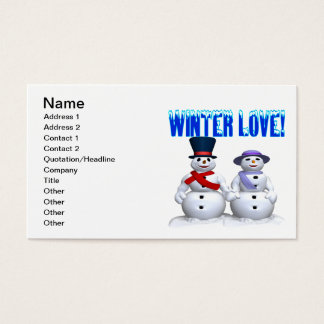 Winter Love Business Card