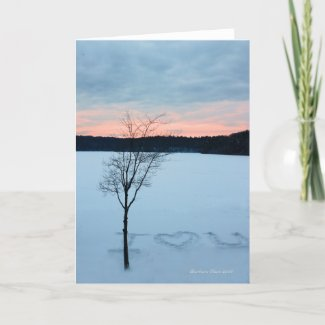Winter Love: Greeting zazzle_card