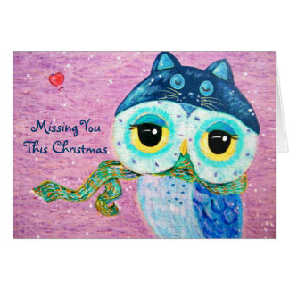 Winter Love -  Missing You  This Christmas Greeting Cards